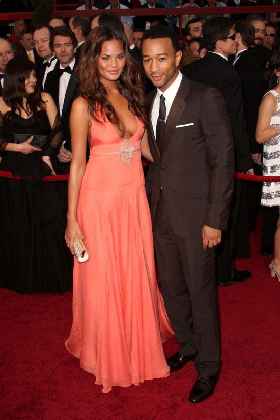 John Legend and (girlfriend) Christine Teigen // 81st Annual Academy Awards (Oscars) Red Carpet