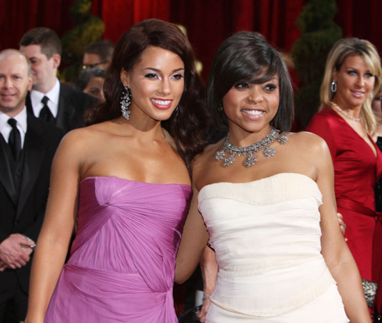 Alicia Keys and Taraji P. Henson // 81st Annual Academy Awards (Oscars) Red Carpet