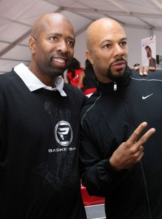 Kenny Smith and Common // K-Mart And Protege Basketball Block Party
