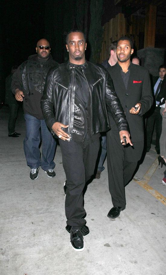 Diddy // Leaving Brandy's 30th Birthday in L.A.
