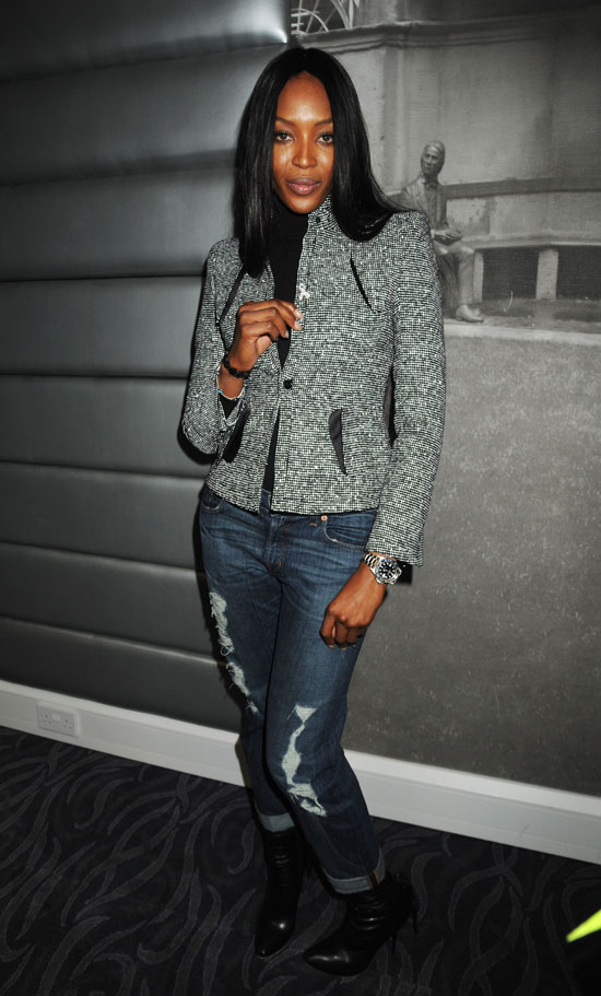 Naomi Campbell // Speaking at Cancer Benefit in the UK