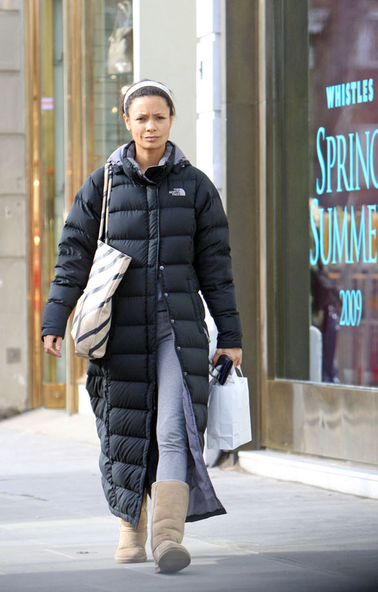 Thandie Newton // Out & about in London