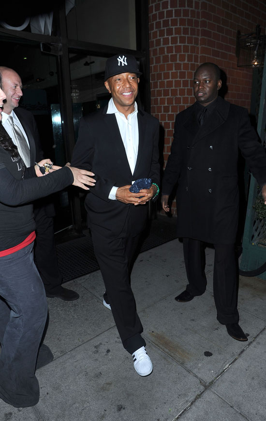 Russell Simmons // Leaving Mr. Chow\'s (02.12.09)