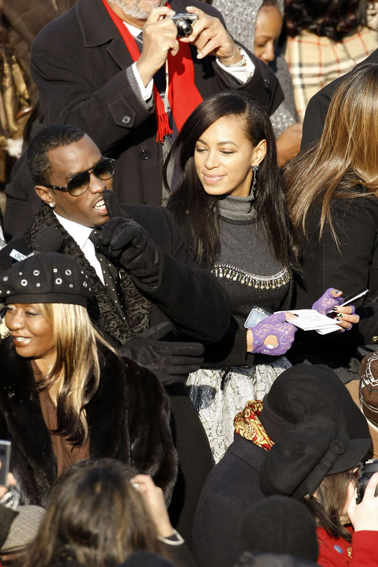 Janice Combs, Diddy and Solange // President Barack Obama\'s Inauguration