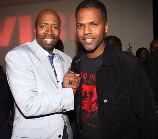 Kenny Smith and AJ Calloway // Ciroc Party for NBA All-Star Weekend 2009