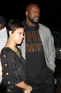 Shaquille O\'Neal & (wife) Shaunie // Ciroc Party for NBA All-Star Weekend 2009