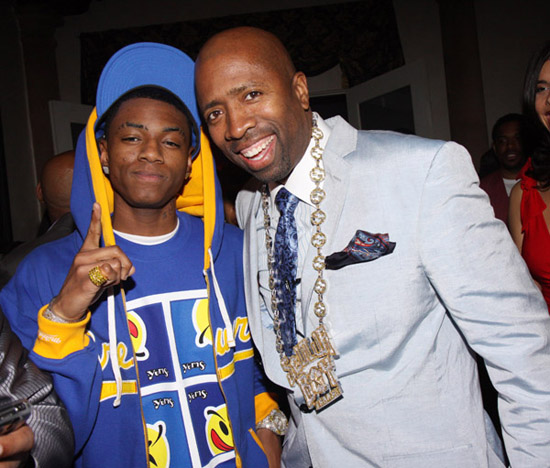 Soulja Boy and Kenny Smith // Ciroc Party for NBA All-Star Weekend 2009