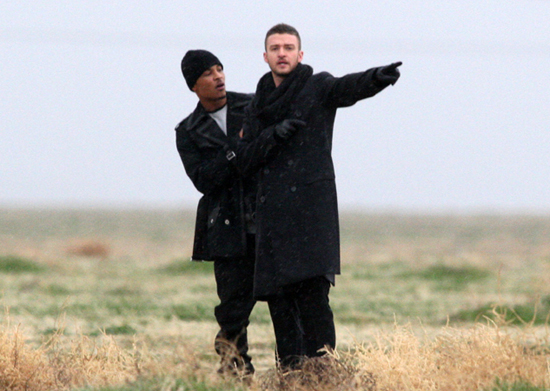 "T.I. & Justin Timberlake // On location for ""Dead and Gone\"" music video"