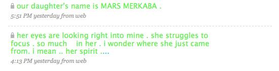 Erykah Badu names baby Marks Merkaba