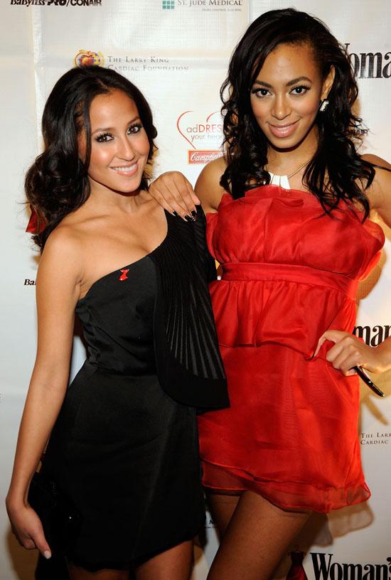 Adrienne Bailon & Solange // 6th Annual Dress Awards