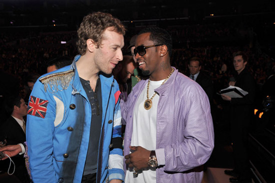 Diddy & Chris Martin from Coldplay // 2009 Grammy Awards (Audience)