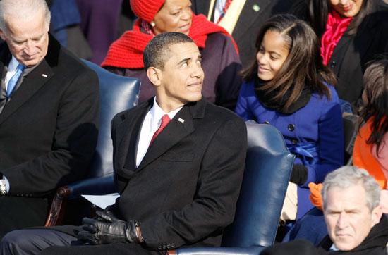 Barack Obama & Malia Obama // Inauguration \'09