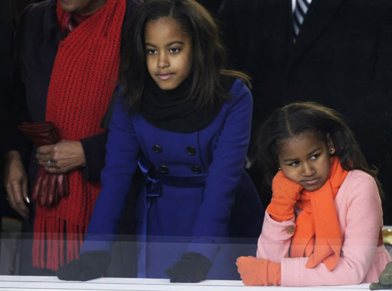 Malia and Sasha Obama // Inauguration \'09