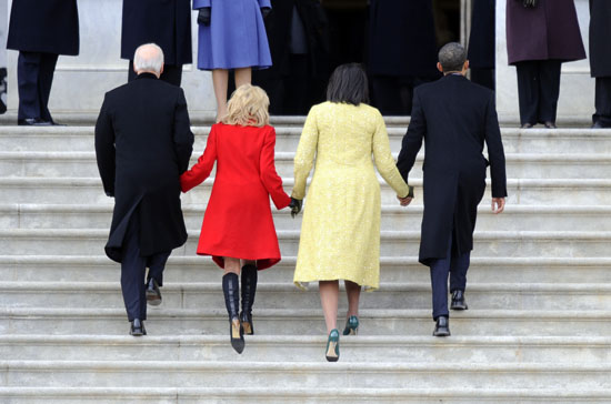 Vice President Joe Biden, Jill Biden, First Lady Michelle Obama and President Barack Obama // Inauguration \'09