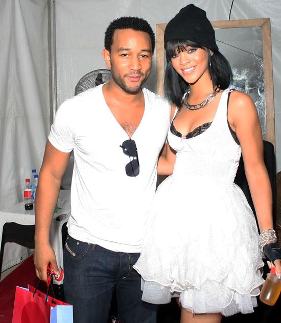 John Legend and Rihanna