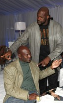 Michael Jordan and Shaquille O\'Neal // Jordan Brand Fabulous 23 Cocktail Party