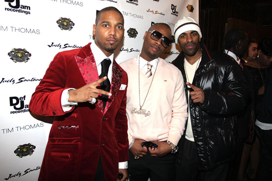 Juelz Santana, Tim Thomas & DJ Clue // Juelz Santana & Tim Thomas' Birthday Bash in NYC