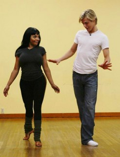 "Lil Kim and Derek Hough Lil Kim and Derek Hough // Rehearsing for ""Dancing with the Stars"""