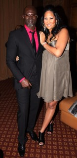 Kimora Lee Simmons & Djimon Honsou // Baby Phat Fall \'09 Fashion Show