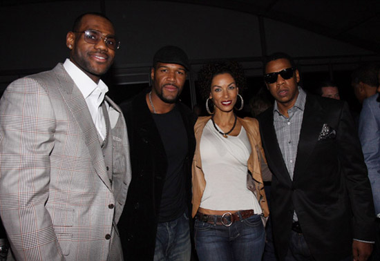 "Lebron James, Michael Strahan, Nicole Mitchell and Jay-Z // ""Two Kings\"" Dinner And After Party"