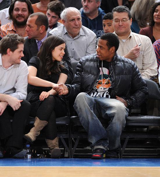 America Ferrera & Jay-Z // Knicks Game