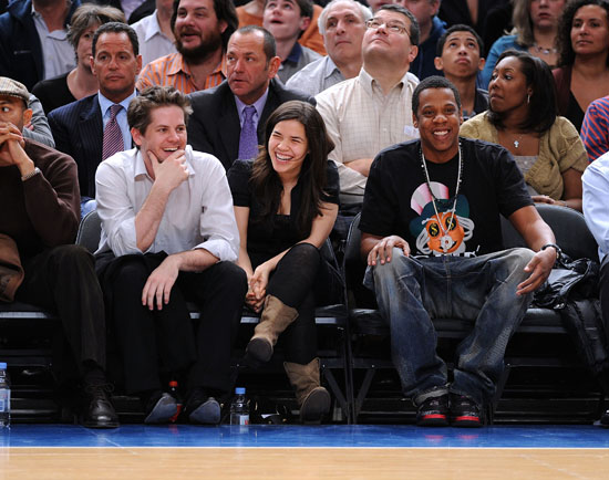 Ryan Piers Williams, America Ferrera and Jay-Z // Knicks Game