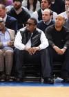 Chris Rock, L.A. Reid, Diddy and Jay-Z // Knicks vs. Cavs basketball game (02.04.09)
