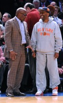 L.A. Reid & Spike Lee // Knicks vs. Cavs basketball game (02.04.09)