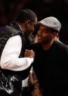 Diddy & Chris Rock // Knicks vs. Cavs basketball game (02.04.09)