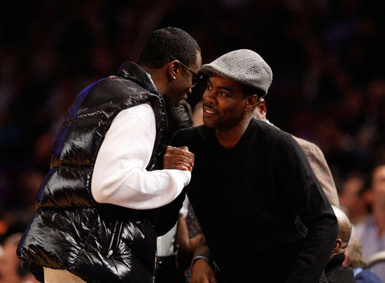 Diddy & Chris Rock // Knicks vs. Cavs basketball game (02.04.09)