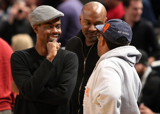 Chris Rock & Spike Lee // Knicks vs. Cavs basketball game (02.04.09)
