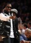 Diddy // Knicks vs. Cavs basketball game (02.04.09)