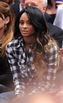 Ciara // Knicks vs. Cavs basketball game (02.04.09)