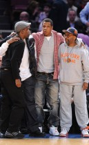 Chris Rock, Diddy, Jay-Z and Spike Lee // Knicks vs. Cavs basketball game (02.04.09)