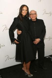 Alicia Keys and Max Azria // Backstage at Max Azria\'s Fashion Show