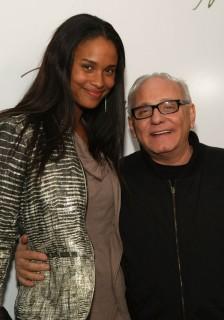 Joy Bryant and Max Azria // Backstage at Max Azria\'s Fashion Show