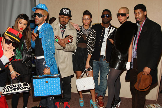 Don C, Kanye West, Amber Rose, Fonzworth Bently and others // Mercedes-Benz Fashion Week 2009