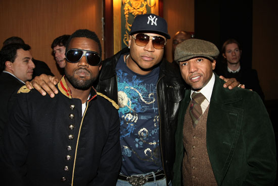 Kanye West, LL Cool J and Kevin Liles // Devi Kroell Fall 2009 Presentation