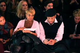 Mary J. Blige & Kendu Isaacs // Milly By Michelle Smith Fall 2009 Fashion Show