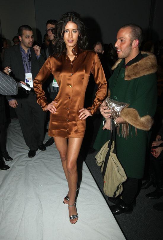 Jaslene Gonzalez // Domenico Vacca Fall \'09 Fashion Show