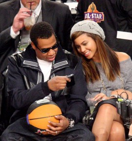 Beyonce and Jay-Z // 2009 NBA All-Star Game (Courtside)