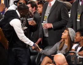 Akon and Beyonce // 2009 NBA All-Star Game (Courtside)