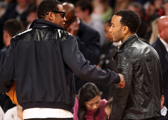 Jay-Z and John Legend // 2009 NBA All-Star Game (Courtside)