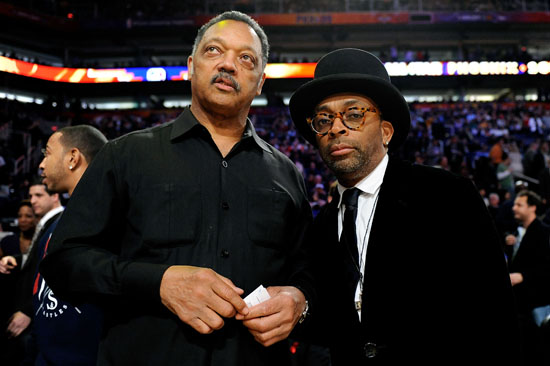 Rev. Jesse Jackson and Spike Lee // 2009 NBA All-Star Game (Courtside)