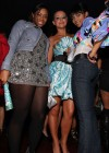 D. Woods, Aubrey O'Day and guest // Playboy March 2009 issue party