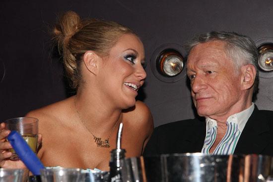 Aubrey O\'Day & Hugh Heffner // Playboy March 2009 issue party