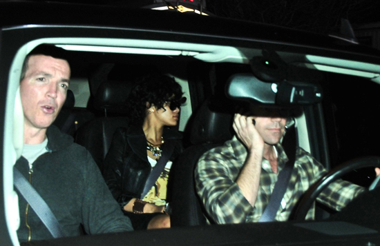 Rihanna on her way to a private airport in L.A.