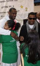 Lebron James and Jay-Z // Sprite Green Musical Instrument Donation in Mesa, AZ
