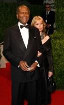 Sidney Poitier & Joanna Shimkus // 2009 Vanity Fair Oscar Party (Red Carpet)