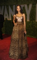 Zoe Saldana // 2009 Vanity Fair Oscar Party (Red Carpet)